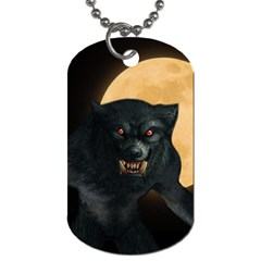 Werewolf Dog Tag (two Sides) by Valentinaart