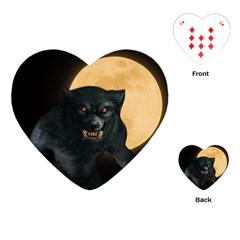 Werewolf Playing Cards (heart)  by Valentinaart