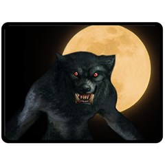 Werewolf Double Sided Fleece Blanket (large)  by Valentinaart