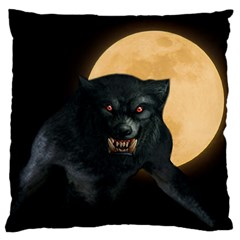 Werewolf Large Flano Cushion Case (two Sides) by Valentinaart