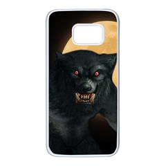 Werewolf Samsung Galaxy S7 White Seamless Case by Valentinaart