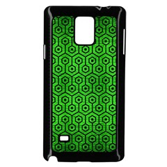 Hexagon1 Black Marble & Green Brushed Metal (r) Samsung Galaxy Note 4 Case (black) by trendistuff