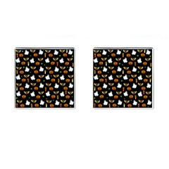 Halloween Pattern Cufflinks (square) by Valentinaart