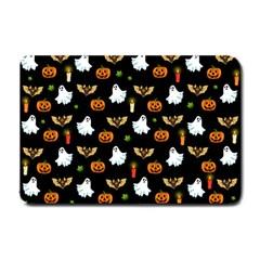 Halloween Pattern Small Doormat  by Valentinaart