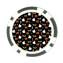 Halloween Pattern Poker Chip Card Guard by Valentinaart