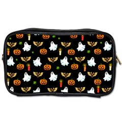 Halloween Pattern Toiletries Bags 2 Side by Valentinaart