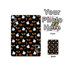 Halloween Pattern Playing Cards 54 (mini)  by Valentinaart