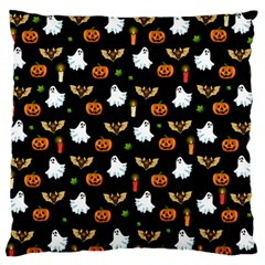 Halloween Pattern Large Flano Cushion Case (two Sides) by Valentinaart