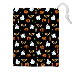 Halloween Pattern Drawstring Pouches (xxl) by Valentinaart