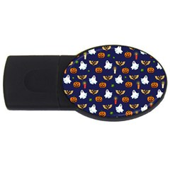Halloween Pattern Usb Flash Drive Oval (2 Gb) by Valentinaart