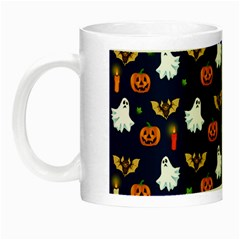 Halloween Pattern Night Luminous Mugs by Valentinaart
