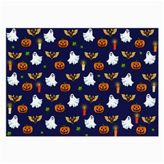 Halloween Pattern Large Glasses Cloth (2 Side) by Valentinaart
