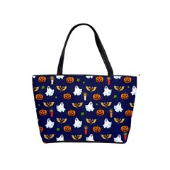 Halloween Pattern Shoulder Handbags by Valentinaart