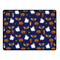 Halloween Pattern Fleece Blanket (small) by Valentinaart
