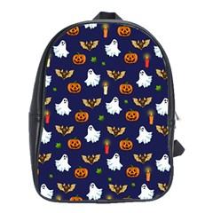 Halloween Pattern School Bag (xl) by Valentinaart