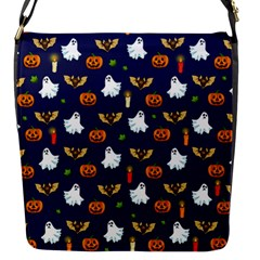 Halloween Pattern Flap Messenger Bag (s) by Valentinaart