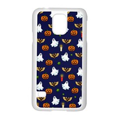 Halloween Pattern Samsung Galaxy S5 Case (white) by Valentinaart