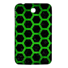 Hexagon2 Black Marble & Green Brushed Metal Samsung Galaxy Tab 3 (7 ) P3200 Hardshell Case  by trendistuff