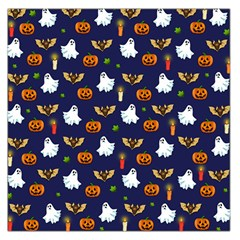 Halloween Pattern Large Satin Scarf (square) by Valentinaart