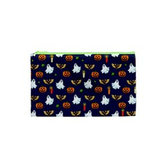 Halloween Pattern Cosmetic Bag (xs) by Valentinaart