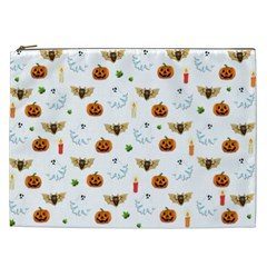 Halloween Pattern Cosmetic Bag (xxl)  by Valentinaart