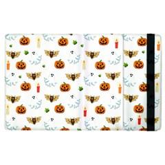 Halloween Pattern Apple Ipad 3/4 Flip Case by Valentinaart
