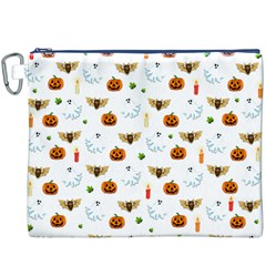 Halloween Pattern Canvas Cosmetic Bag (xxxl) by Valentinaart