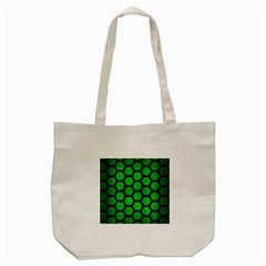 Hexagon2 Black Marble & Green Brushed Metal (r) Tote Bag (cream) by trendistuff