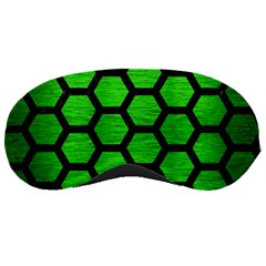 Hexagon2 Black Marble & Green Brushed Metal (r) Sleeping Masks by trendistuff