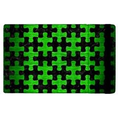 Puzzle1 Black Marble & Green Brushed Metal Apple Ipad 2 Flip Case by trendistuff