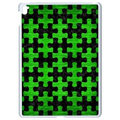 Puzzle1 Black Marble & Green Brushed Metal Apple Ipad Pro 9 7   White Seamless Case by trendistuff