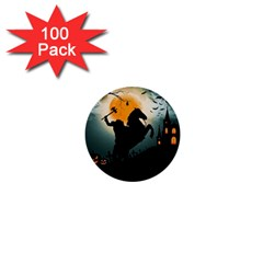 Headless Horseman 1  Mini Buttons (100 Pack)  by Valentinaart