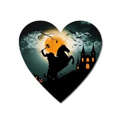 Headless Horseman Heart Magnet by Valentinaart