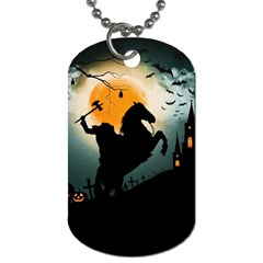 Headless Horseman Dog Tag (two Sides) by Valentinaart