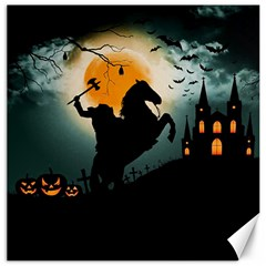 Headless Horseman Canvas 12  X 12   by Valentinaart