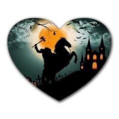 Headless Horseman Heart Mousepads by Valentinaart