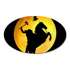 Headless Horseman Oval Magnet by Valentinaart