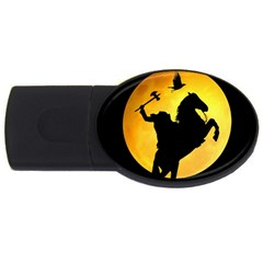 Headless Horseman Usb Flash Drive Oval (4 Gb) by Valentinaart
