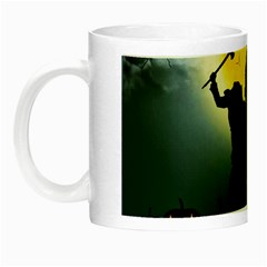 Headless Horseman Night Luminous Mugs by Valentinaart