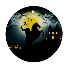 Headless Horseman Round Ornament (two Sides) by Valentinaart
