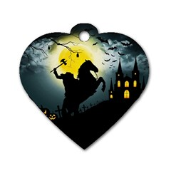 Headless Horseman Dog Tag Heart (one Side) by Valentinaart