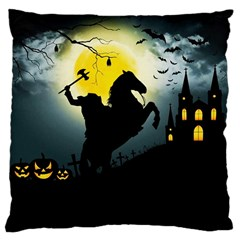 Headless Horseman Large Cushion Case (one Side) by Valentinaart