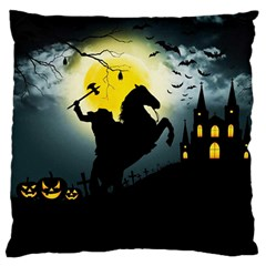 Headless Horseman Large Flano Cushion Case (two Sides) by Valentinaart