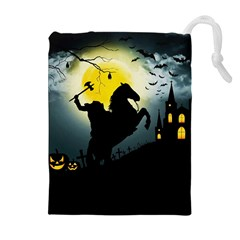Headless Horseman Drawstring Pouches (extra Large) by Valentinaart