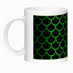 Scales1 Black Marble & Green Brushed Metal Night Luminous Mugs by trendistuff
