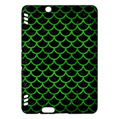 Scales1 Black Marble & Green Brushed Metal Kindle Fire Hdx Hardshell Case by trendistuff
