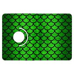 Scales1 Black Marble & Green Brushed Metal (r) Kindle Fire Hdx Flip 360 Case by trendistuff