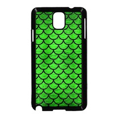 Scales1 Black Marble & Green Brushed Metal (r) Samsung Galaxy Note 3 Neo Hardshell Case (black) by trendistuff
