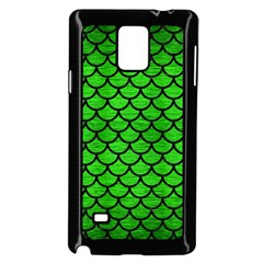 Scales1 Black Marble & Green Brushed Metal (r) Samsung Galaxy Note 4 Case (black) by trendistuff