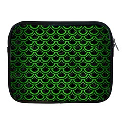 Scales2 Black Marble & Green Brushed Metal Apple Ipad 2/3/4 Zipper Cases by trendistuff